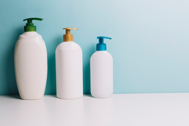 Cosmetics bottles with pumps