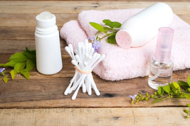 Cosmetics health care for skin of woman
