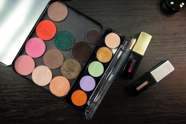 Cosmetics. mascara and shadow.