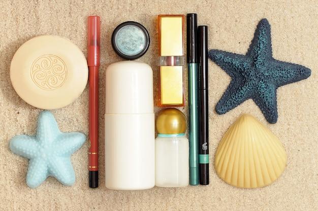 海砂の上の化粧品