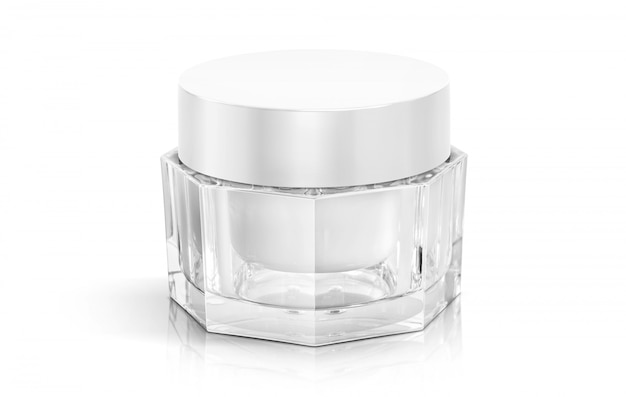 Cosmetics packaging makeup cream pot for product design.