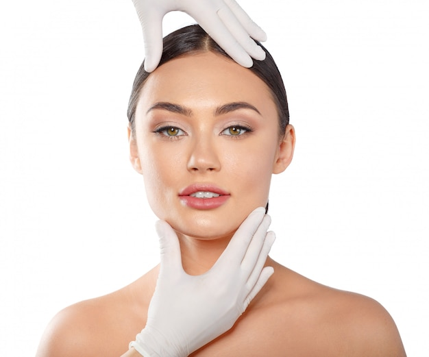 Cosmetology plastic surgery beauty concept