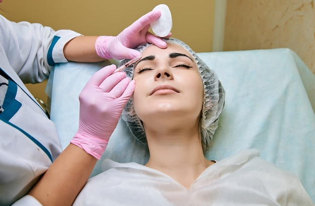 Cosmetology room, treatment and skin cleansing with hardware, elimination of the causes of problem skin