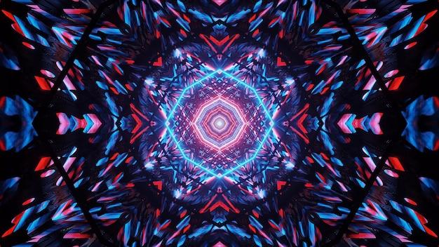 파란색과 빨간색 레이저 조명으로 우주 배경-디지털 배경에 적합
