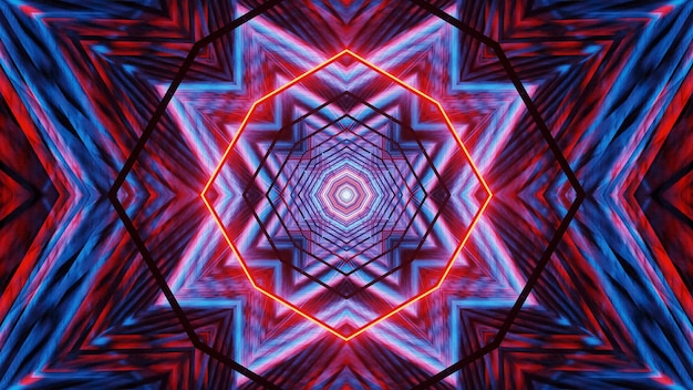 Sfondo cosmico con luci laser blu e rosse - perfetto per uno sfondo digitale