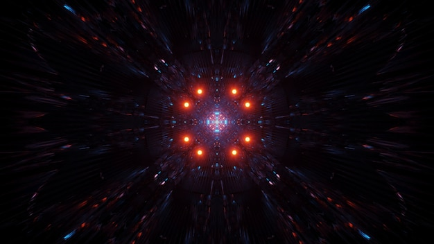 Космический фон с разноцветными лазерными огнями - идеальная иллюстрация для обоев
