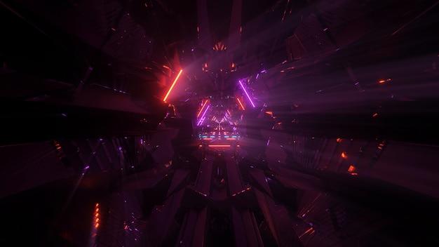 Космический фон с разноцветными лазерными огнями - идеально подходит для цифровых обоев