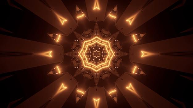 金色のレーザー光で宇宙背景放射-デジタル壁紙に最適