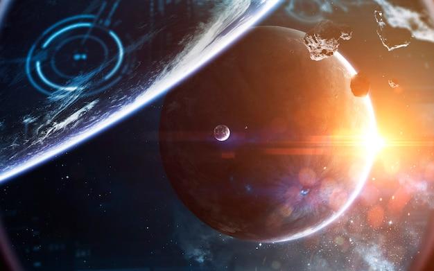 宇宙の風景、無限の深宇宙を持つ美しいサイエンスフィクションの壁紙。 nasaによって提供されたこの画像の要素