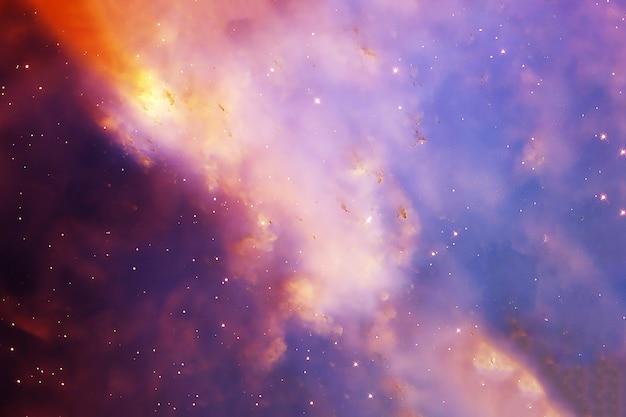Космическая туманность в голубых тонах. элементы этого изображения были предоставлены наса. для любых целей.
