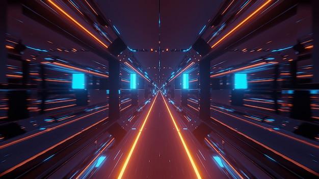 Spazio cosmico con luci laser colorate: perfetto per uno sfondo digitale