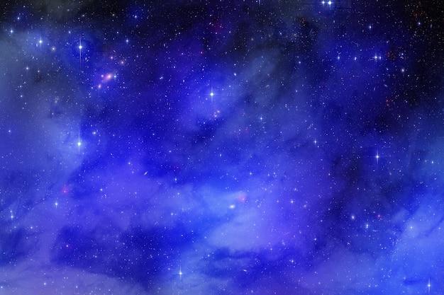 Cosmic stardust sky with nebula