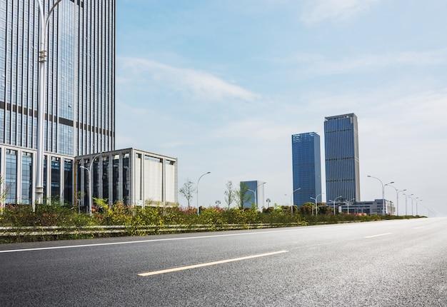 Cosmopolitan city with skyscrapers