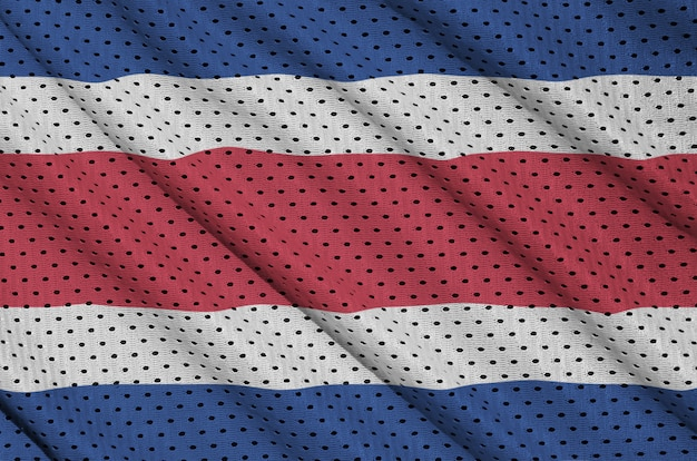 Costa rica flag printed on a polyester nylon mesh
