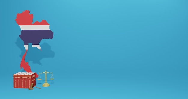 インフォグラフィック、3dレンダリングのソーシャルメディアコンテンツに関するコスタリカの法律