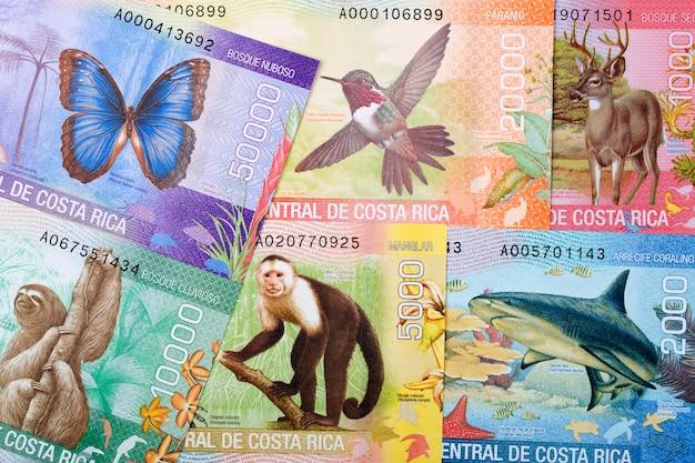 Costa rican money. colon business background