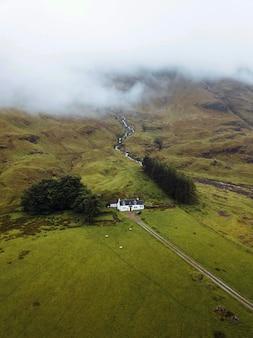 スコットランド、グレンエティーブのコテージ