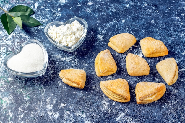 Печенье с творогом и сахаром