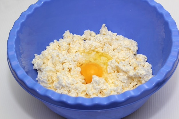 Cottage cheese dough with egg