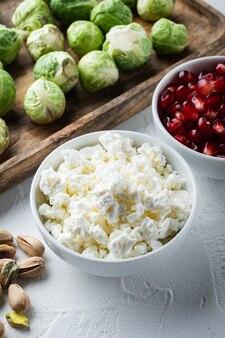 코티지 치즈 또는 두부, 흰색 질감 배경