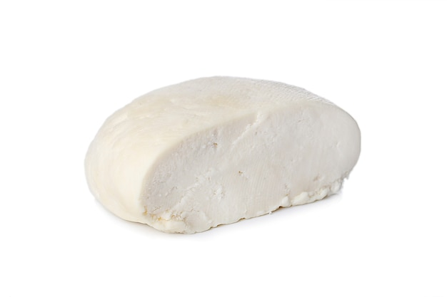 Cottage cheese on a white surface