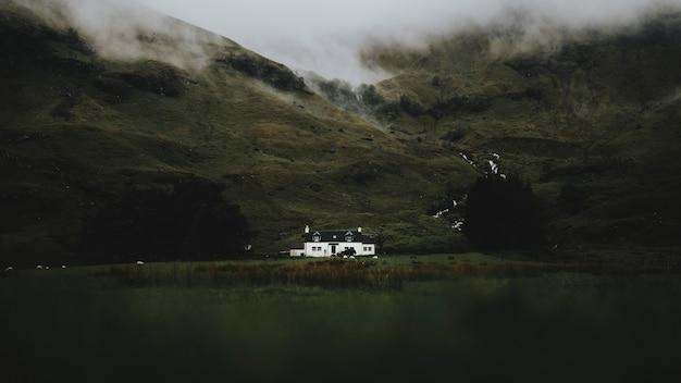Cottage at glen etive, scotland