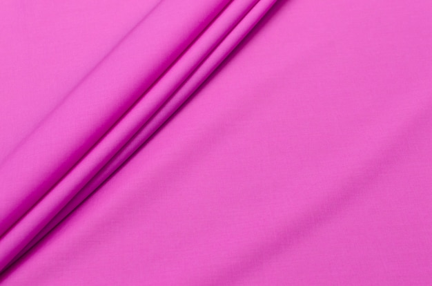 Cotton fabric batiste pink-lilac color