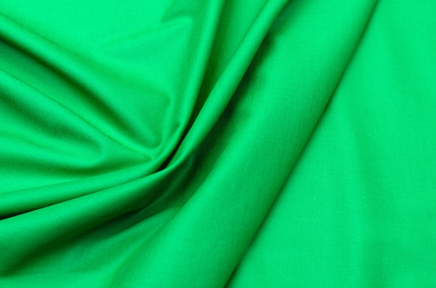 Cotton fabric cambric green