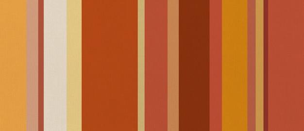 주황색 줄무늬가 인쇄 된 코튼 패브릭 질감. 배경 벽지.