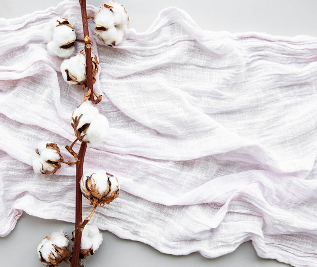 Cotton flowers ans scarf