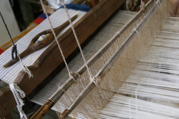 Cotton on the loom