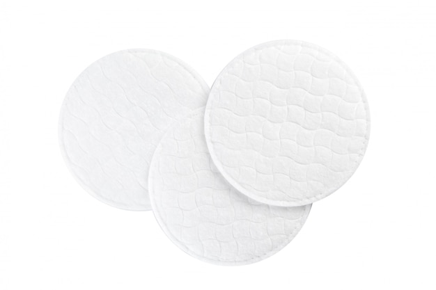 Cotton pads isolated on white