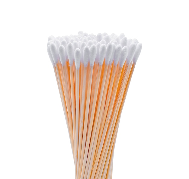 Cotton wool sticks isolated on white.