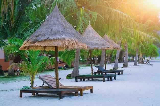 Couch on the beach at lipe satun thailand