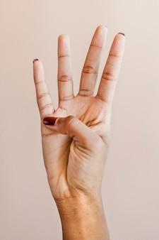 Подсчет числа жест рукой