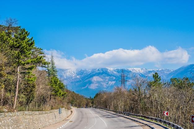 Country road at the crimean yalta ay petri