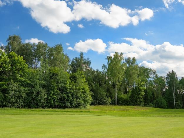 Поле для гольфа в сельской местности