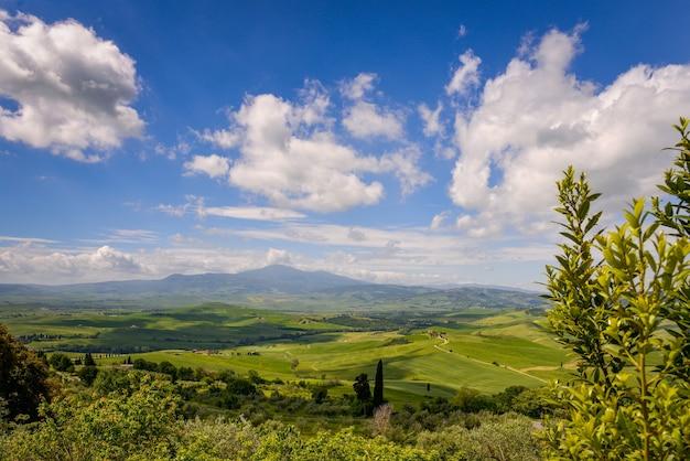 Pienza 근처 val d' orcia의 시골