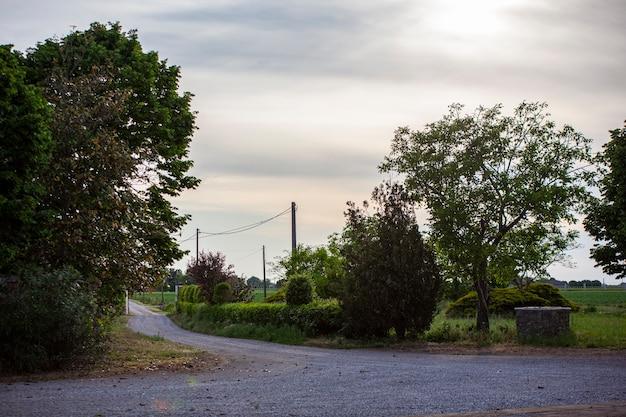 Countryside road in northen italy in villanova del ghebbo
