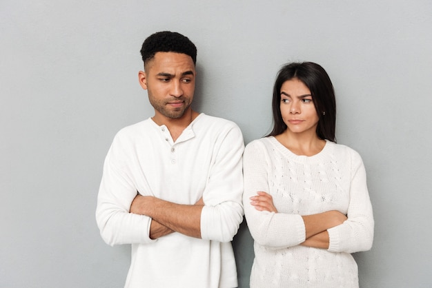 Couple angry about each other