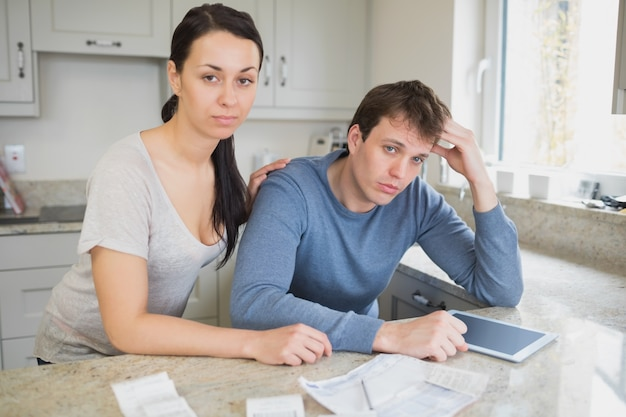 Couple calculating the finances