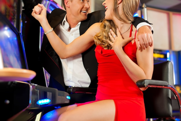 Couple in casino
