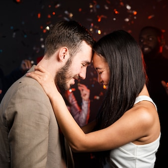 Couple celebrating new years party