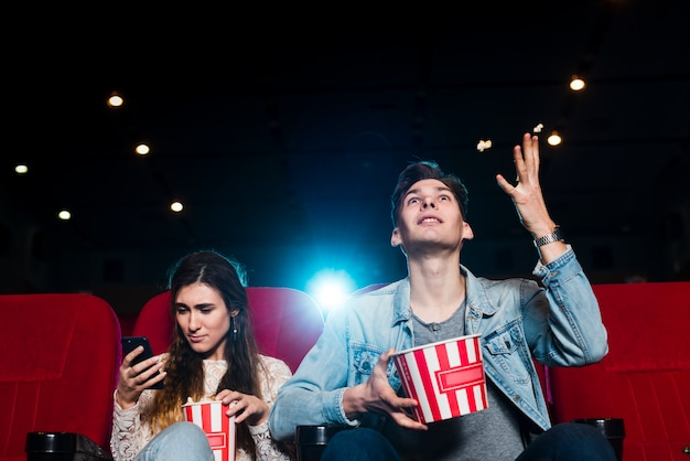 Couple in cinema