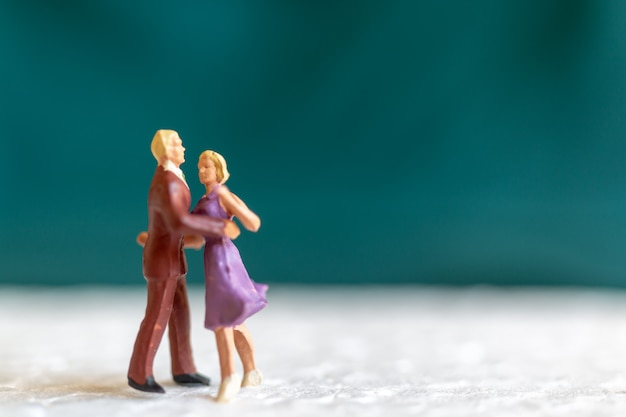 Couple dancing on the floor, valentine's day concept
