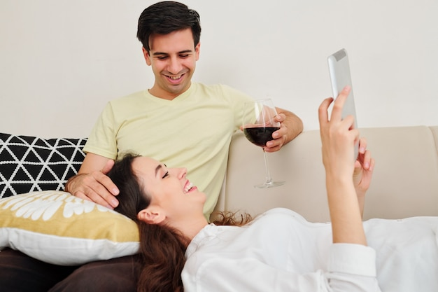 Couple enjoying spending time together