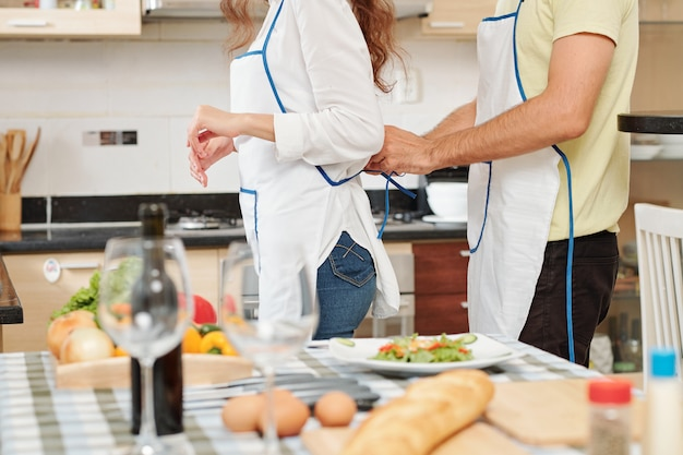 Couple getting ready to cook