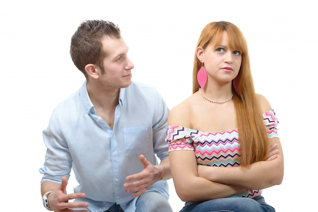 Couple have an argument because of relationship crisis