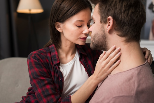 Couple having a tenderness moment