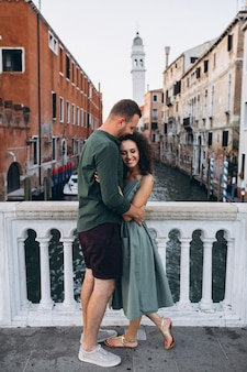 Couple on honeymoon in venice